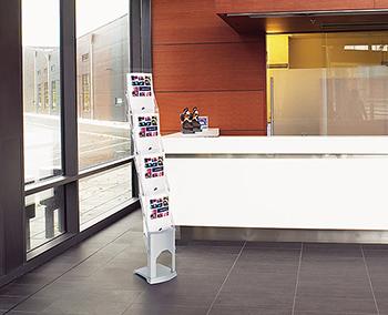 Support à littérature expolinc brochure stand 4 pochettes ou 5 pochettes.